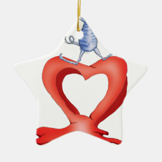 you melt my heart - cat cartoon, tony fernandes ceramic star decoration
