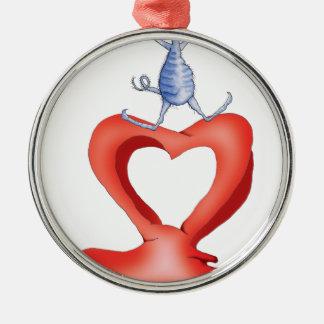 you melt my heart - cat cartoon, tony fernandes christmas ornament