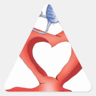 you melt my heart - cat cartoon, tony fernandes sticker