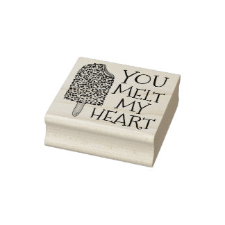 You Melt My Heart Valentine's Day Popsicle Stamp