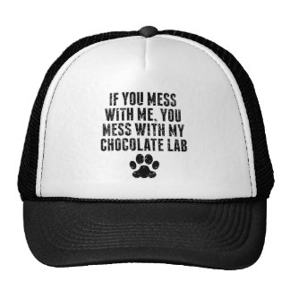You Mess With My Chocolate Lab Cap