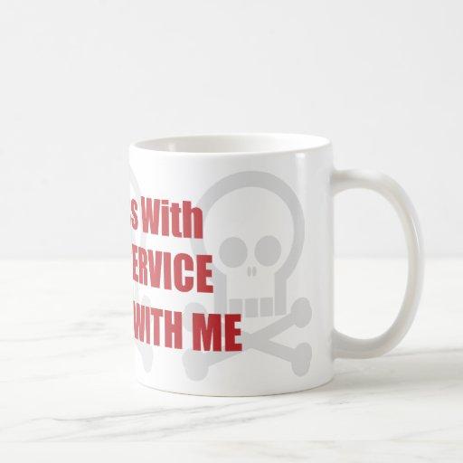 You Mess With Postal Service You Mess With Me Basic White Mug