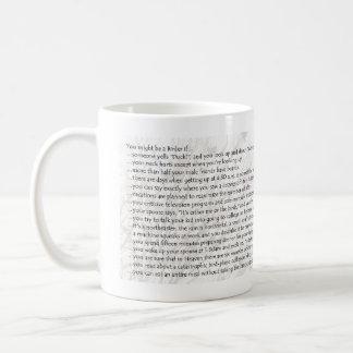 You Might Be a Birder if... Basic White Mug
