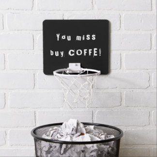 You miss - buy Coffee Black and White Office Mini Basketball Hoop