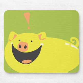 YOU NEED THIS STUPID SMILING PIG! MOUSE MAT