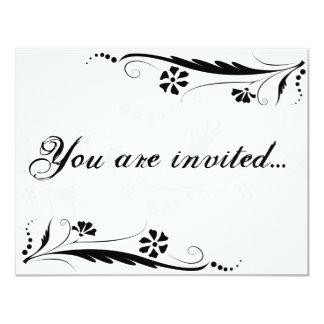 You of acres invited… 11 cm x 14 cm invitation card