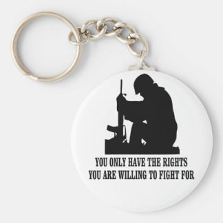You Only Have The Rights You Are Willing To Fight Key Chains