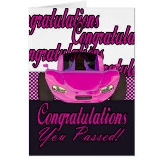 You Passed Congratulations passed driving test Greeting Card