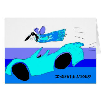 you passed your driving test! card