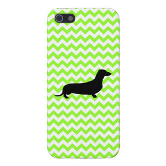 You Pick The Color Chevron With Dachshund Shadow Cover For iPhone 5/5S