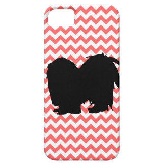 You Pick The Color Chevron With Shih Tzu Silhouett iPhone 5 Cases