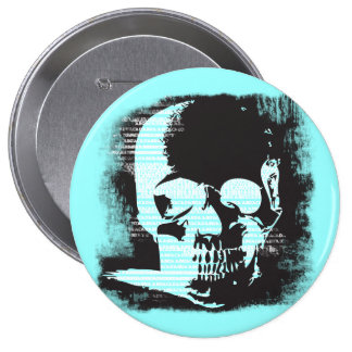 YOU PICK THE COLORS with fixed torn skull Button