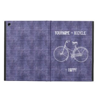 You Plus Bicycle Equals Happy Antique Bike Purple Case For iPad Air