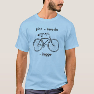 You Plus Bicycle Equals Happy Vintage Wheels Bike T-Shirt