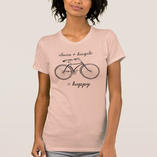 You Plus Bicycle Equals Happy Vintage Wheels Bike Shirts