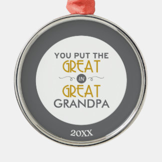 You Put the Great in Great Grandpa Christmas Ornament