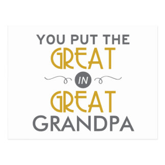 You Put the Great in Great Grandpa Postcard