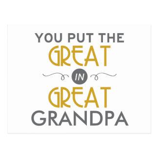 You Put the Great in Great Grandpa Postcard