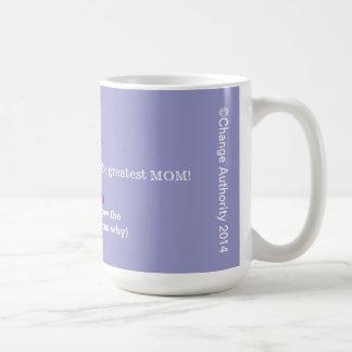 You R the greatest Mom! Basic White Mug