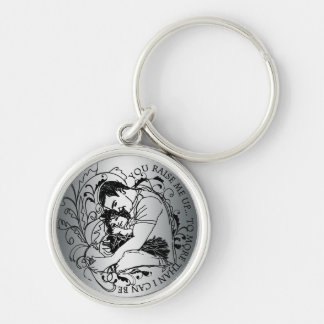 You raise me up line art Father's day keychain