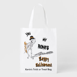 You Rattle My Bones Trick or Treat Bag Market Totes