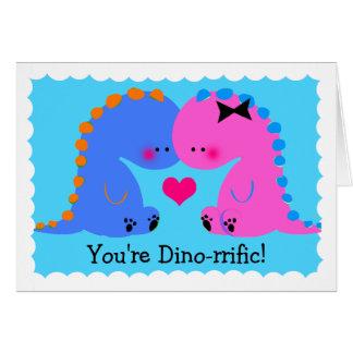 You re dinorrific Cute Dinosaur Card
