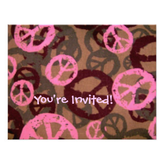 You re Invited -Peace Signs Invite