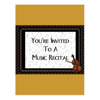 You re Invited To A Music Recital Post Cards