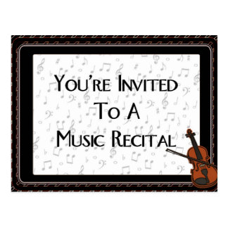 You re Invited To A Music Recital Postcards
