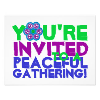 You re Invited to a Peaceful Gathering Announcement