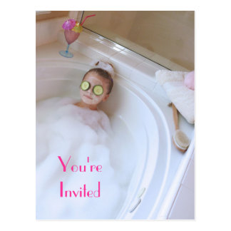 You re Invited to a Spa Day Post Cards