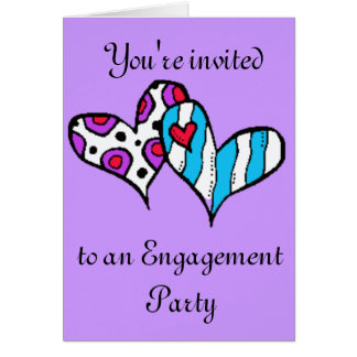 You re invited to an engagement party design card