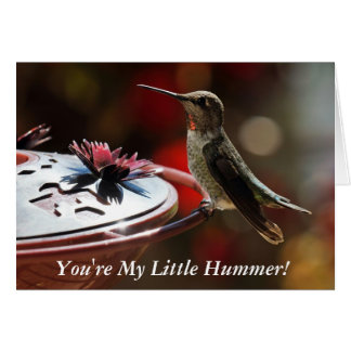 You re My Little Hummer Greeting Card