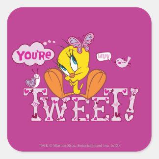 You re Tweet Square Sticker