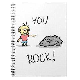 You Rock! Cartoon. Spiral Notebook