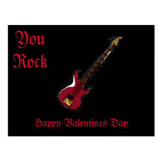 You Rock Happy Valentines Day Post Cards