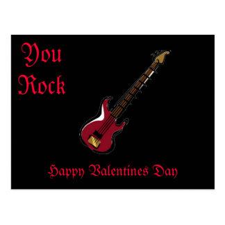 You Rock Happy Valentines Day Postcard