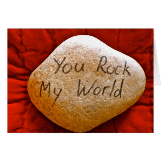 you rock my world greeting card