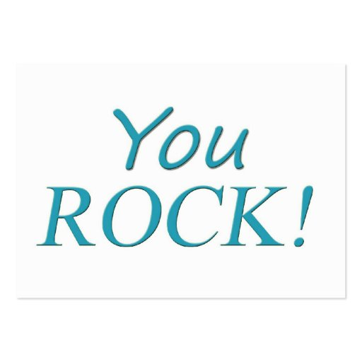 You Rock! Pack Of Chubby Business Cards