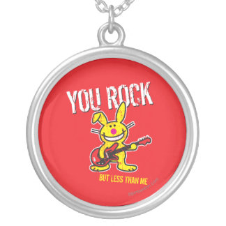 You Rock Silver Plated Necklace