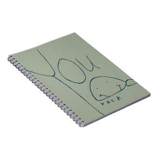 You Rock Spiral Notebook