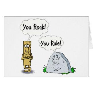 You Rock You Rule Greeting Card