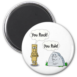 You Rock, You Rule 6 Cm Round Magnet