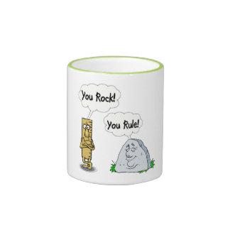 You Rock You Rule Ringer Mug
