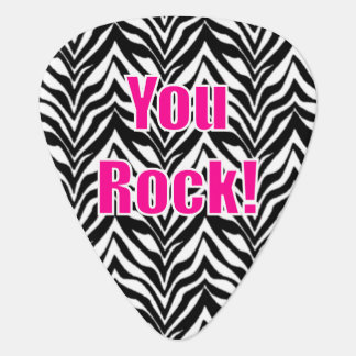 You Rock! Zebra Print Plectrum