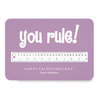 You Rule! Kids Classroom Valentines Card