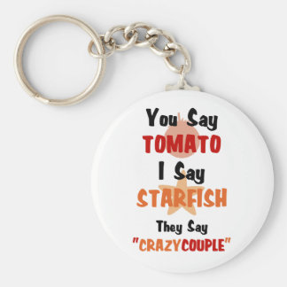 You Say Tomato They Say Crazy Couple Key Ring
