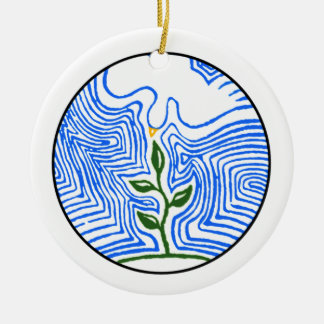 """You send your spirit and renew the earth"" Christmas Ornament"