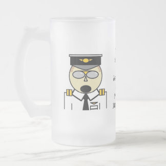 You should see it from the flightdeck frosted frosted glass beer mug