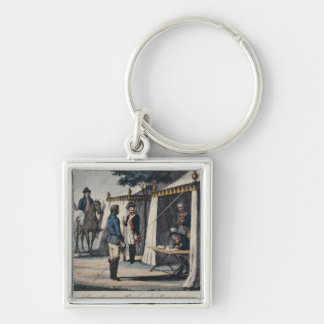 You should sing Te Deum in Breslau' Silver-Colored Square Key Ring